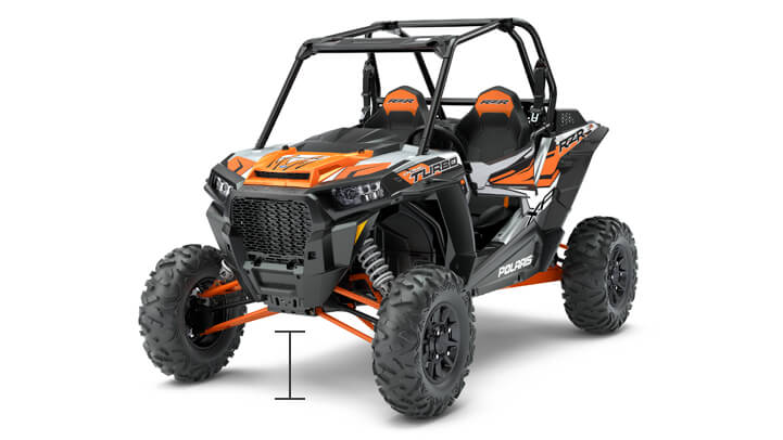 RZR XP TURBO EPS - EMPATTEMENT ET GARDE AU SOL INCOMPARABLES